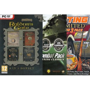 Multibuy+: Baldurs Gate Compilation + Naval Combat Pack + Hunting Unlimited Excursion (PC)